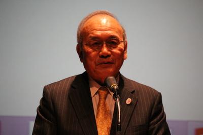 日韓パラリンピックセミナー、JPC鳥原会長.JPG