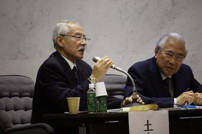写真 青山大学国際シンポジウム土山實男さん.JPG